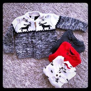 Carter's Moose Sweater & Winter Bodysuit Bundle